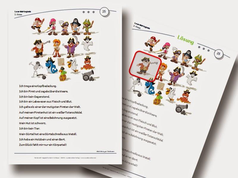 Logicals Grundschule Klasse 2-3 Leserätsel Material kostenlos
