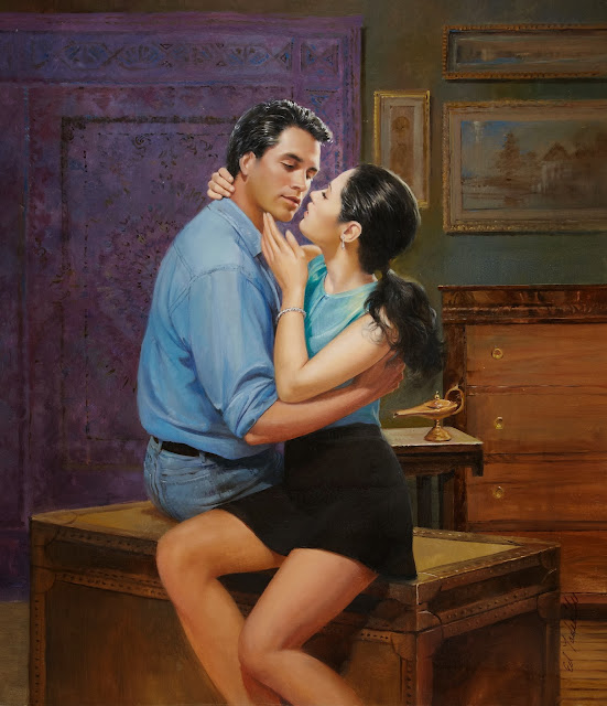 boss x secretary, cute painting,ed tadiello
