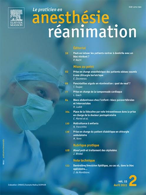 Le praticien en anesthésie réanimation