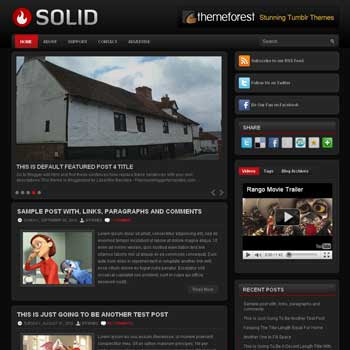 Solid blog template. template image slider blog. magazine blogger template style. wordpress theme to blogger