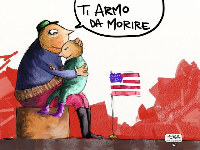 Morte Sparatoria Usa Gava Satira Vignette