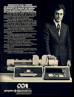 Remington,  anos 70.  1974. década de 70. os anos 70; propaganda na década de 70; Brazil in the 70s, história anos 70; Oswaldo Hernandez;