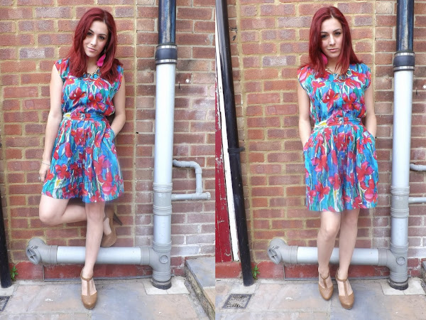 What Cat Wore: Button Up Playsuit