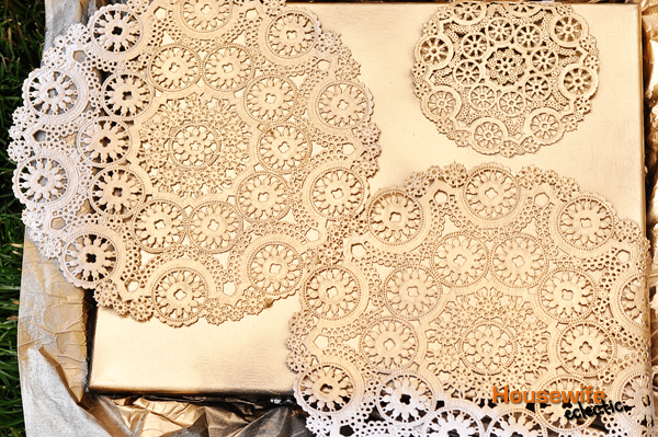 spray painted doily canvas housewife eclectic. Black Bedroom Furniture Sets. Home Design Ideas