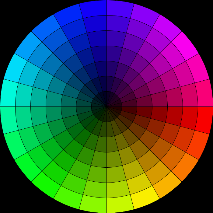 rudimentary color wheel