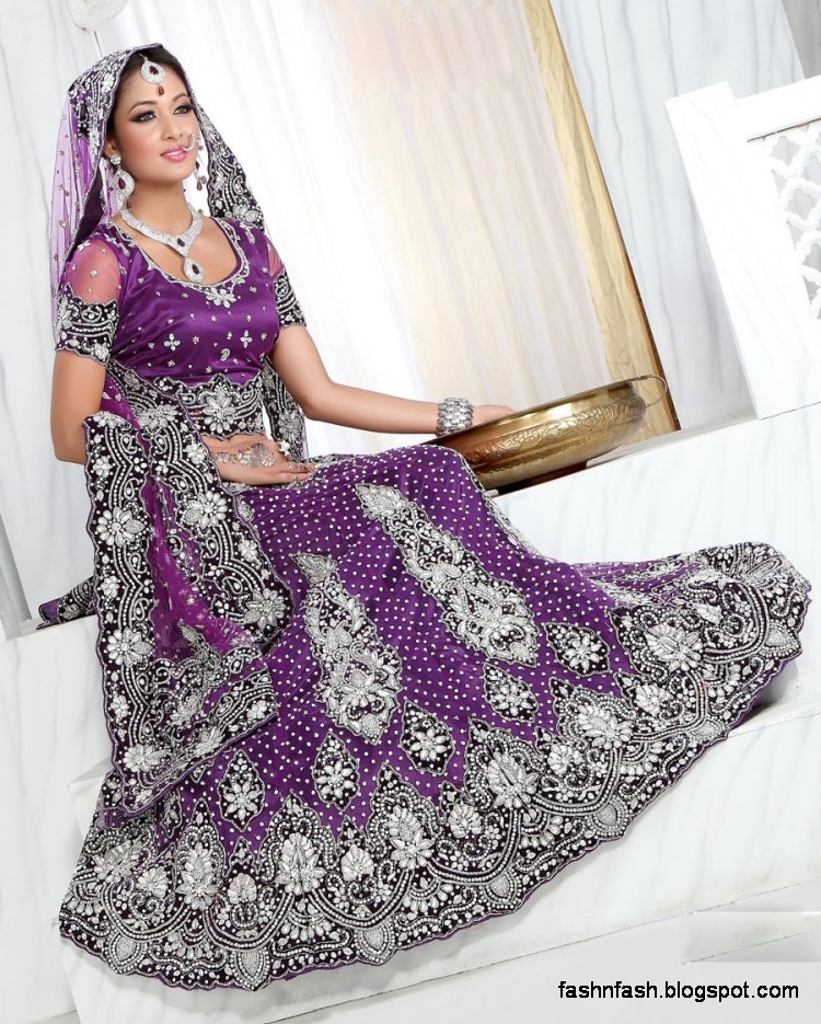 Bridal Brides Wedding Dress Beautiful Indian Bridal Vallima Lehanga Choli Dresses Collection