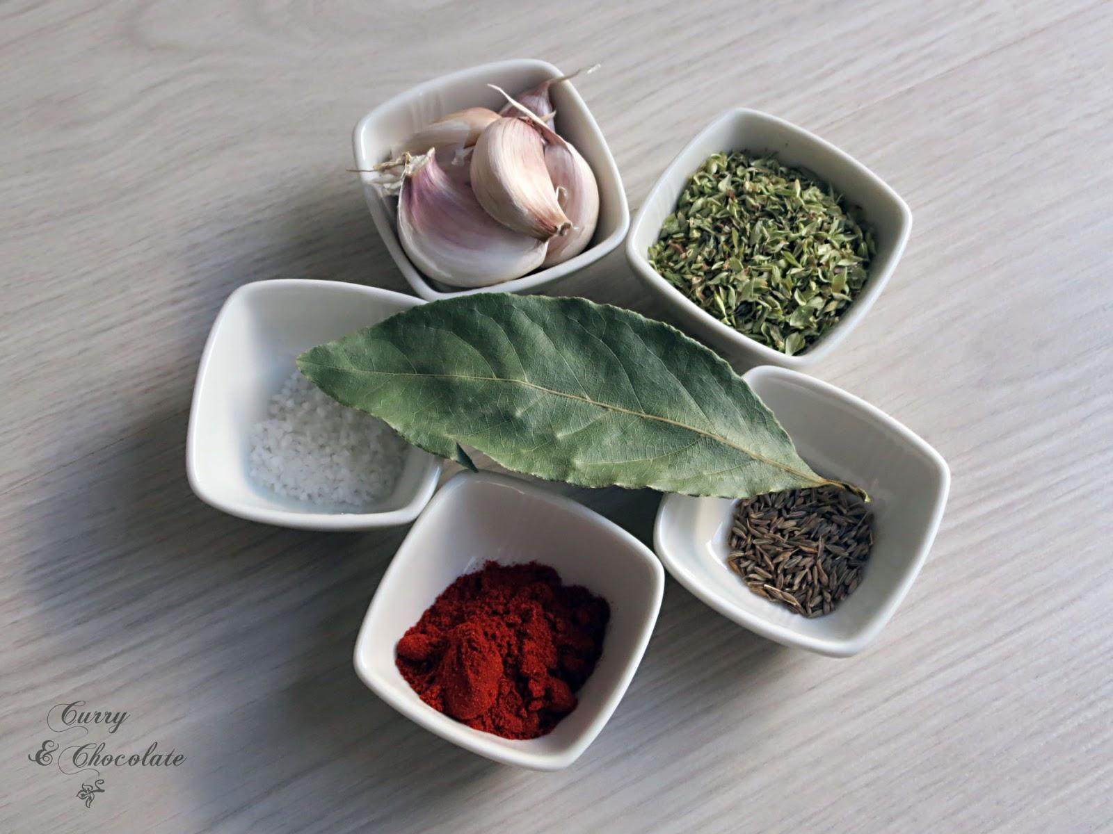Ingredientes del adobo