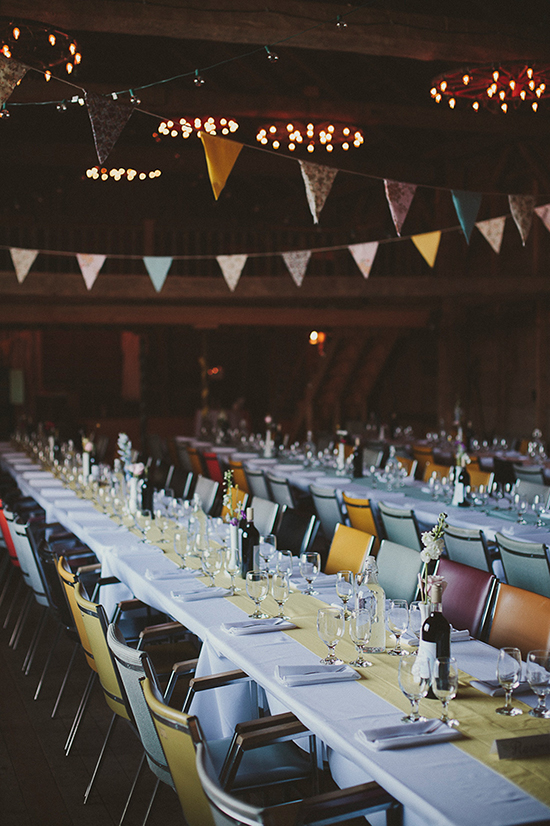 brunch wedding / bunting.