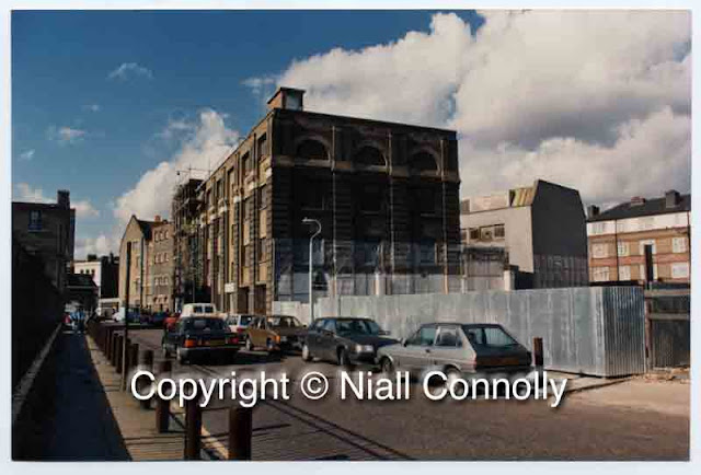 Site of 5 & 7 Tanner Street, Bermondsey, London SE1, after demolition c1987. Copyright Niall Connolly