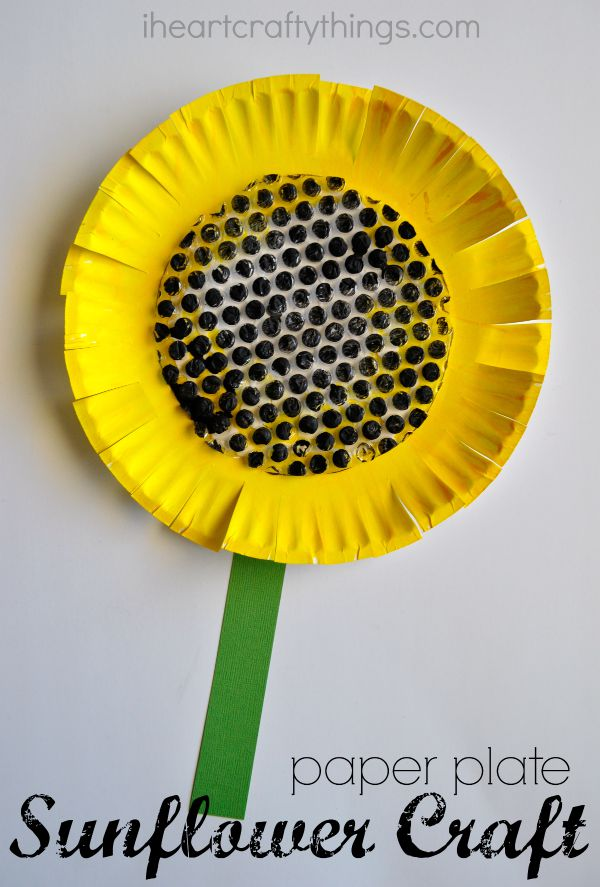 Paper Plate Sunflower Craft   I Heart Crafty Things