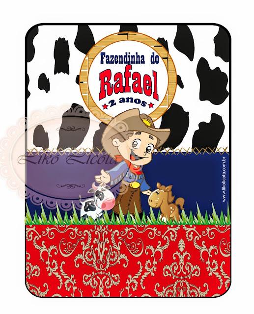 rótulos personalizados para festa infantil tema fazendinha ou cowboy vaqueiro