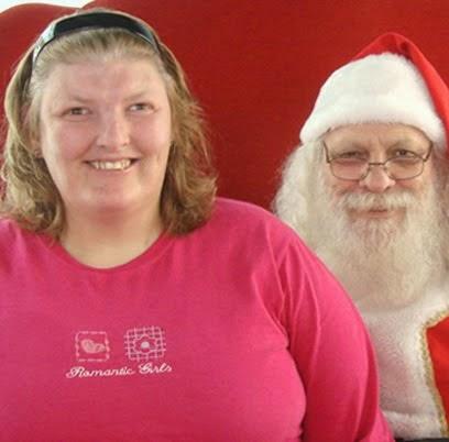 O papai Noel não chorou com o peso e ainda sorriu!