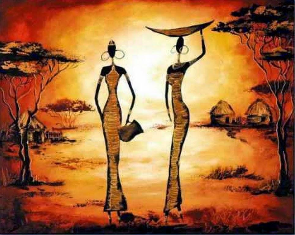 pinturas-de-paisajes-africanos-modernas-decorativas