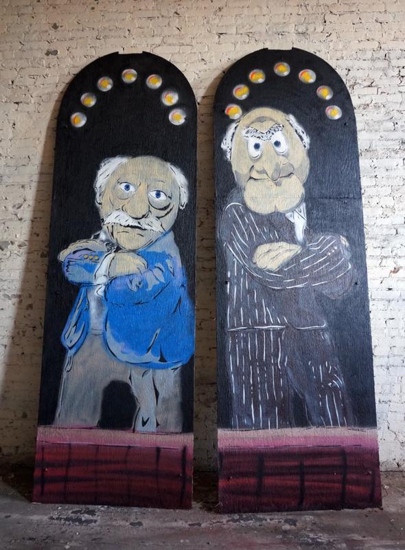 statler waldorf street art