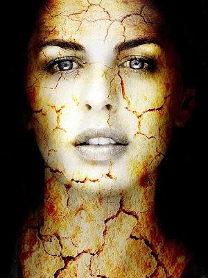 imagen mujer+rostro+cara+surrealismo