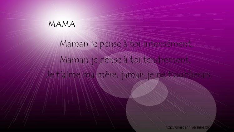 texte anniversaire de décès maman