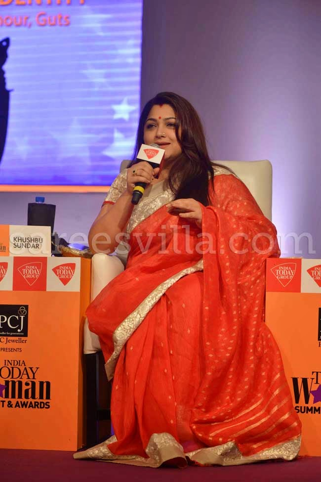 Actress Khushboo Sundar In Silk Saree