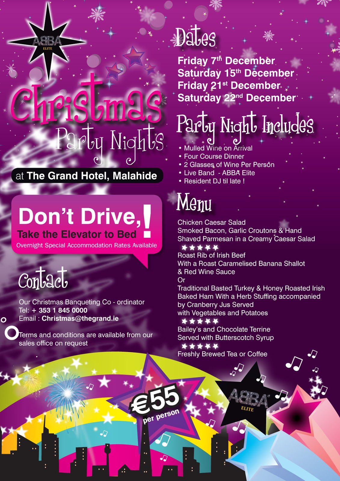 Christmas Party Nights 2017 Grand Hotel