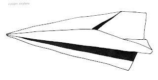 642 Things to Draw 51, a paper airplane, pen and ink by Ana Tirolese ©2012