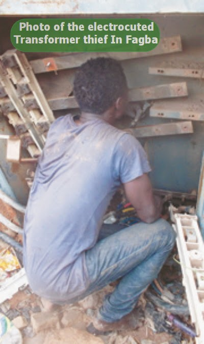 man electrocuted transformer lagos