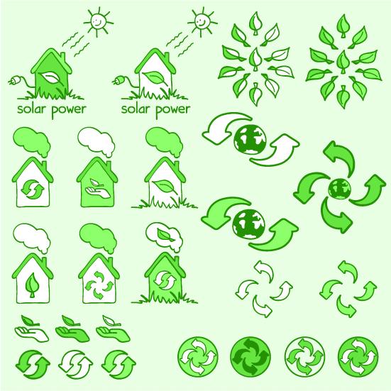 Iconos Ecológicos informales - Vector