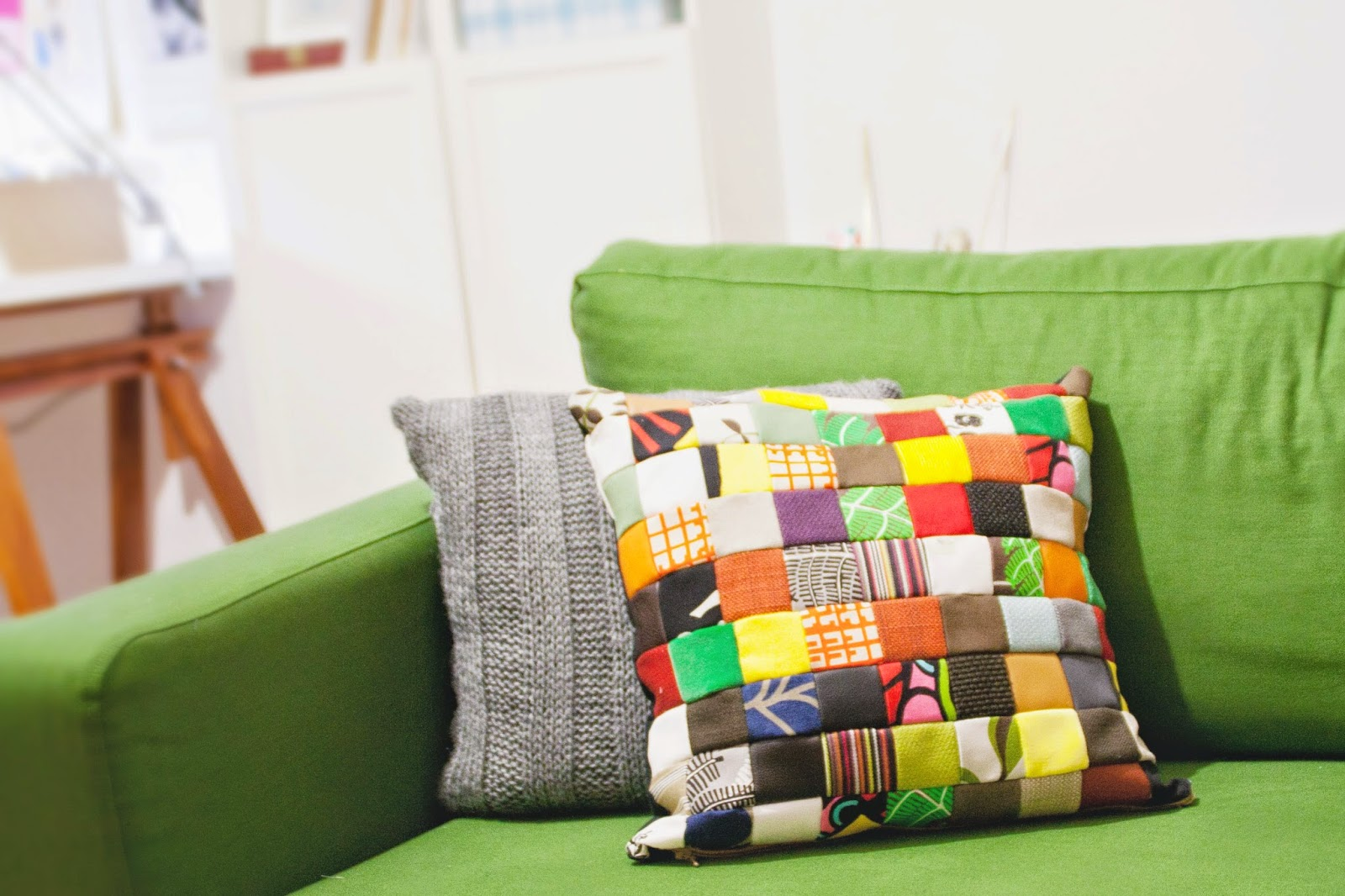Diy Patchwork Pillow Case Made From Free Ikea Fabric Samples