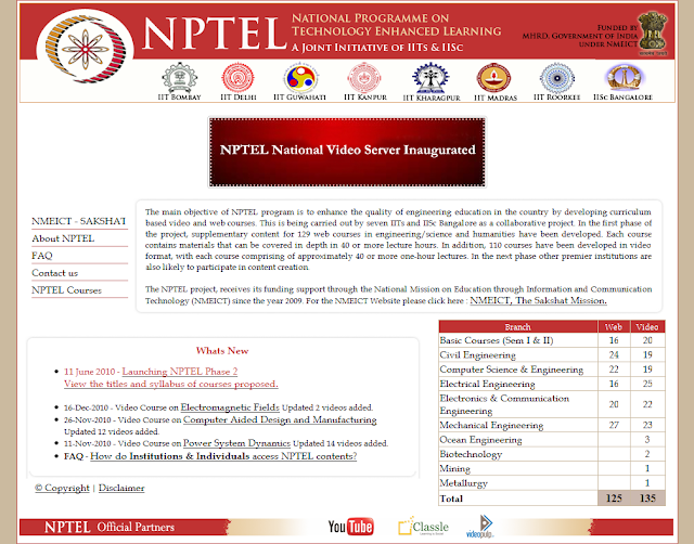 Nptel lecture notes download