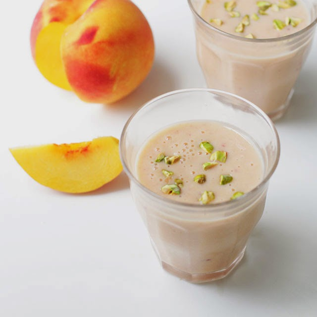 Peach and Rose Water Lassi