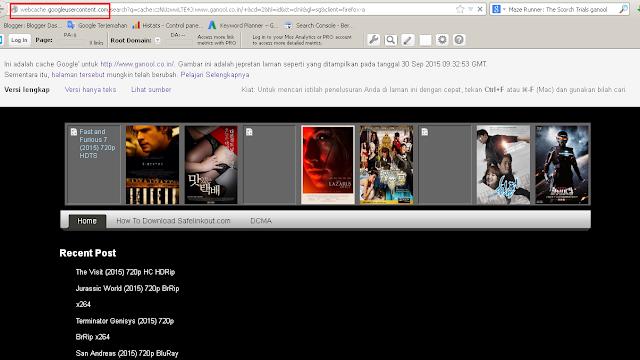 membuka  situs film yang diblokir