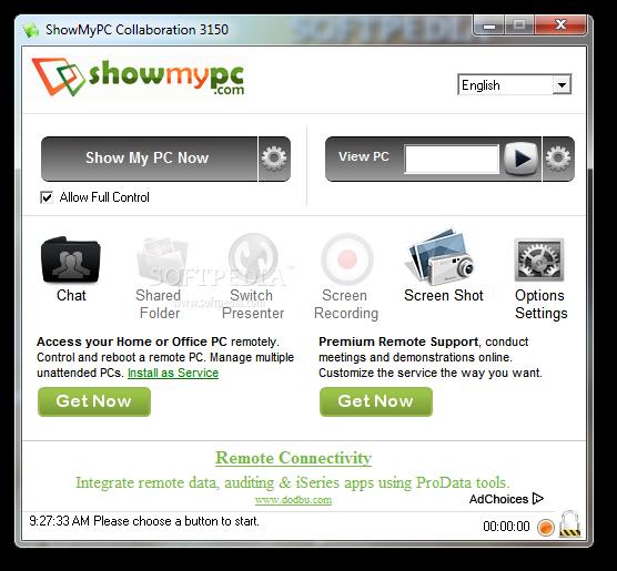 تحميل برنامج التحكم في الكمبيوتر عن بعد مجانا برابط مباشر Download ShowMyPC 3161