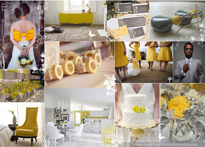 spring yellow wedding inspiration board wedding nouveau1