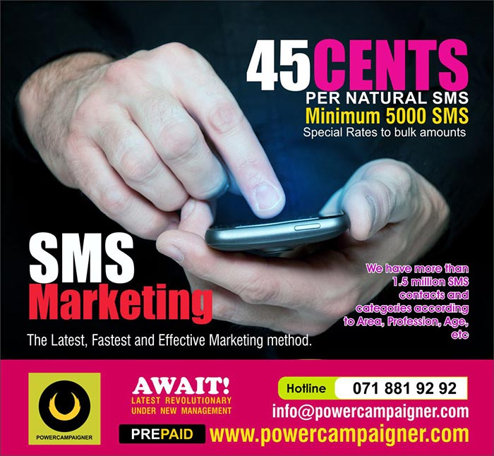 SMS - The affordable marketing solution.
