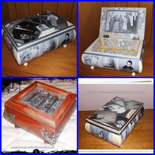 cajas de recuerdos,..con fotos