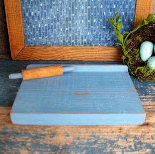 a wee little pastry board and rolling pin