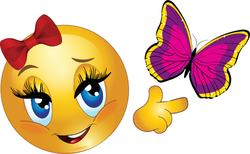 Smiley and Butterfly