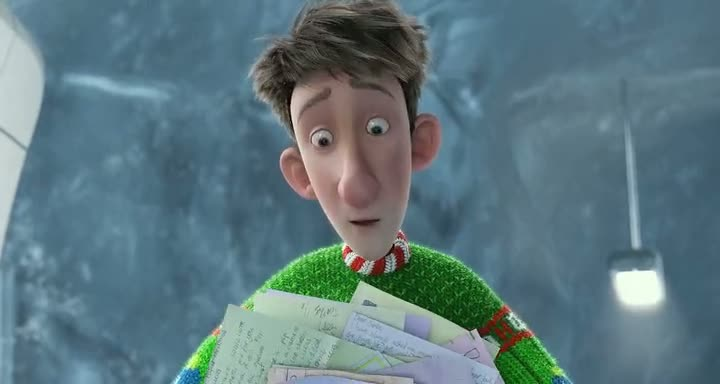 Screen Shot Of Arthur Christmas (2011) Dual Audio Movie 300MB small Size PC Movie