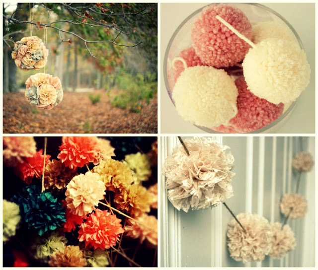 pompoms wedding decorations