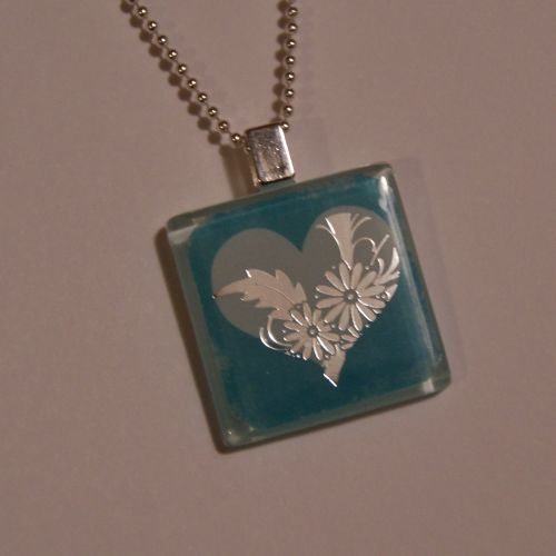Glass tile necklace for valentines day happy hour projects unglazed aloadofball Image collections