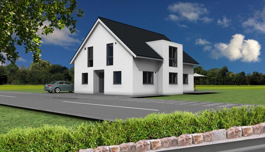 Bodentiefe fenster obergeschoss  Hausbau Niederzier mit 4Life: Bauanlaufgespräch