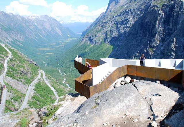 Trollstigen escadas Noruega troll