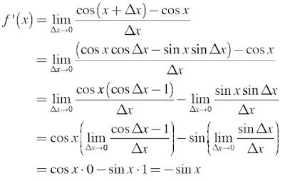f(x) = cos x