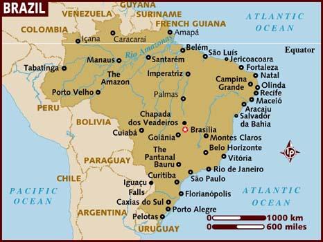 Map of Cuiaba, Brazil