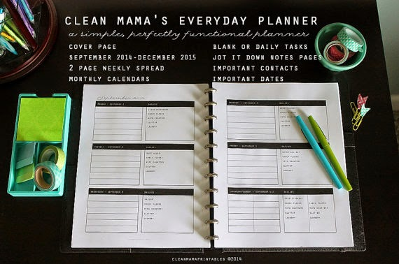 Clean Mama's Everyday Planner :: OrganizingMadeFun.com