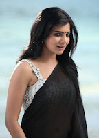 Samantha Black Saree Hot Photos54