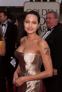 Angelina Jolie Tattoo Pictures - Hollywood Celebrity Tattoo Ideas