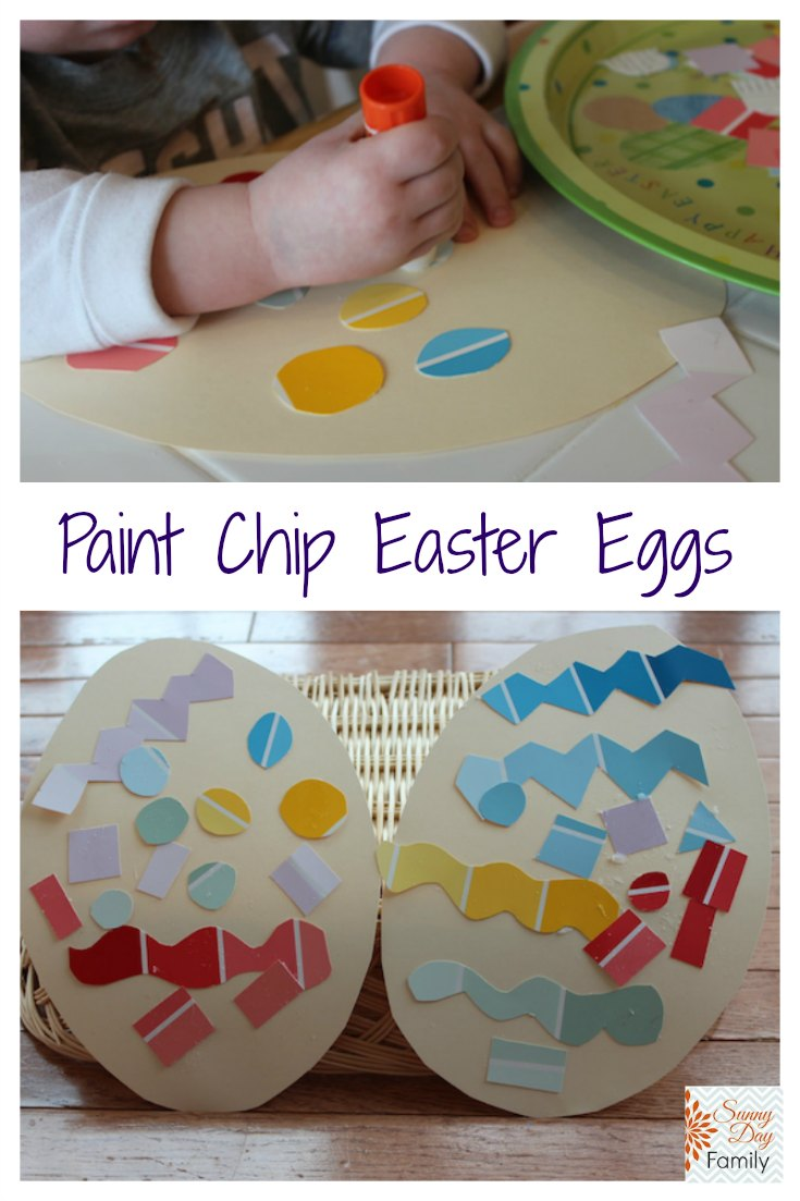 Paint chip Easter eggs