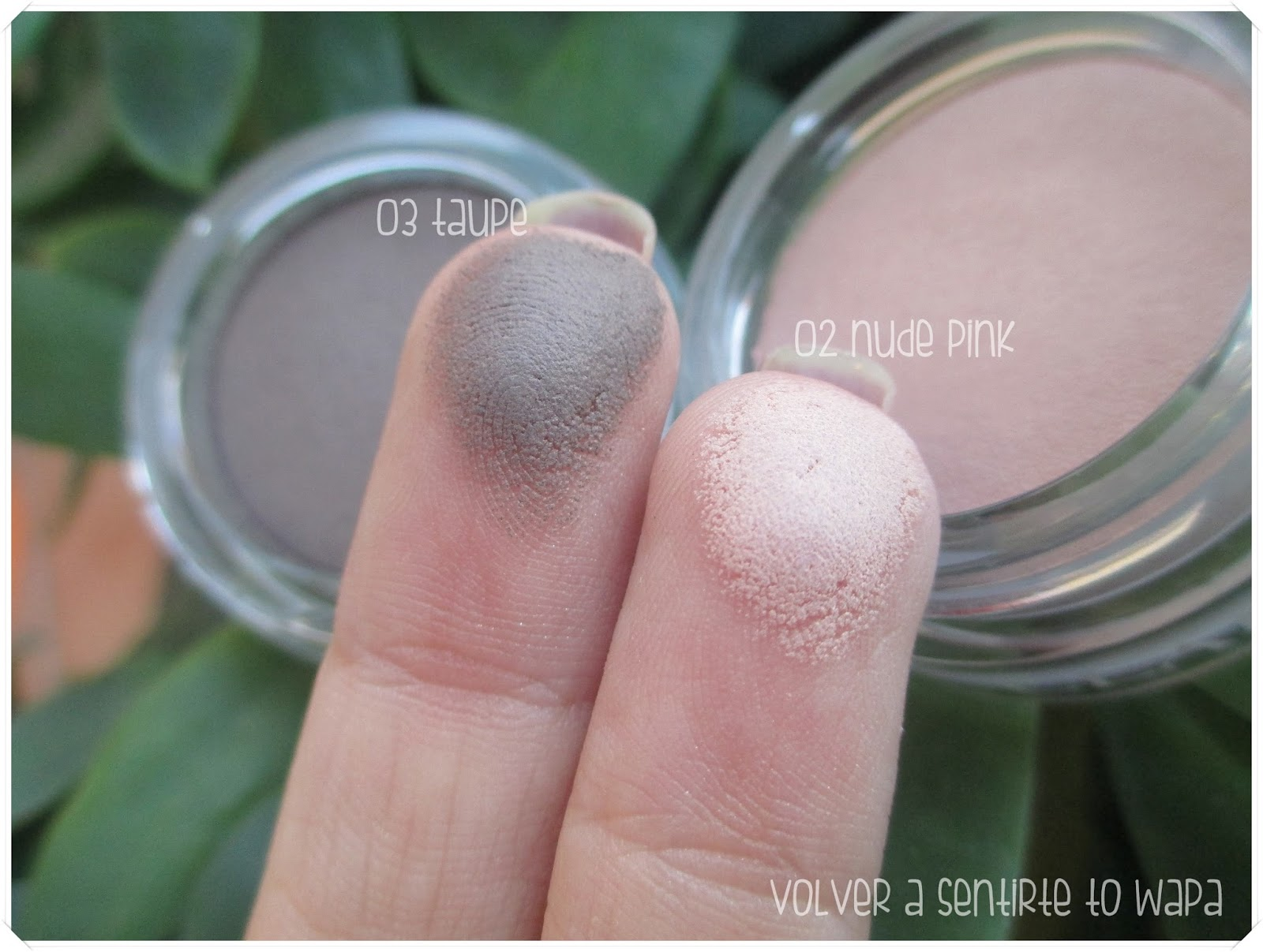 Ombre Matte de Clarins - 02 nude pink y 03 taupe