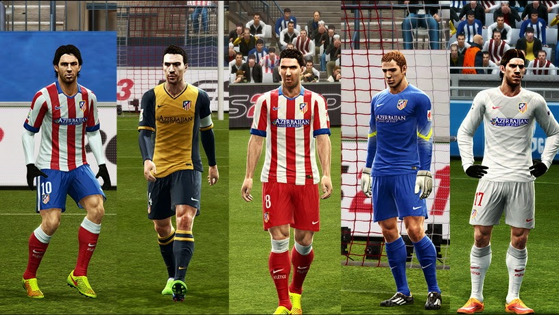 PES 2013 Atletico Madrid 14-15 Update GDB by Vulcanzero