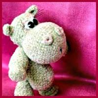 Pequeño hipopótamo a crochet