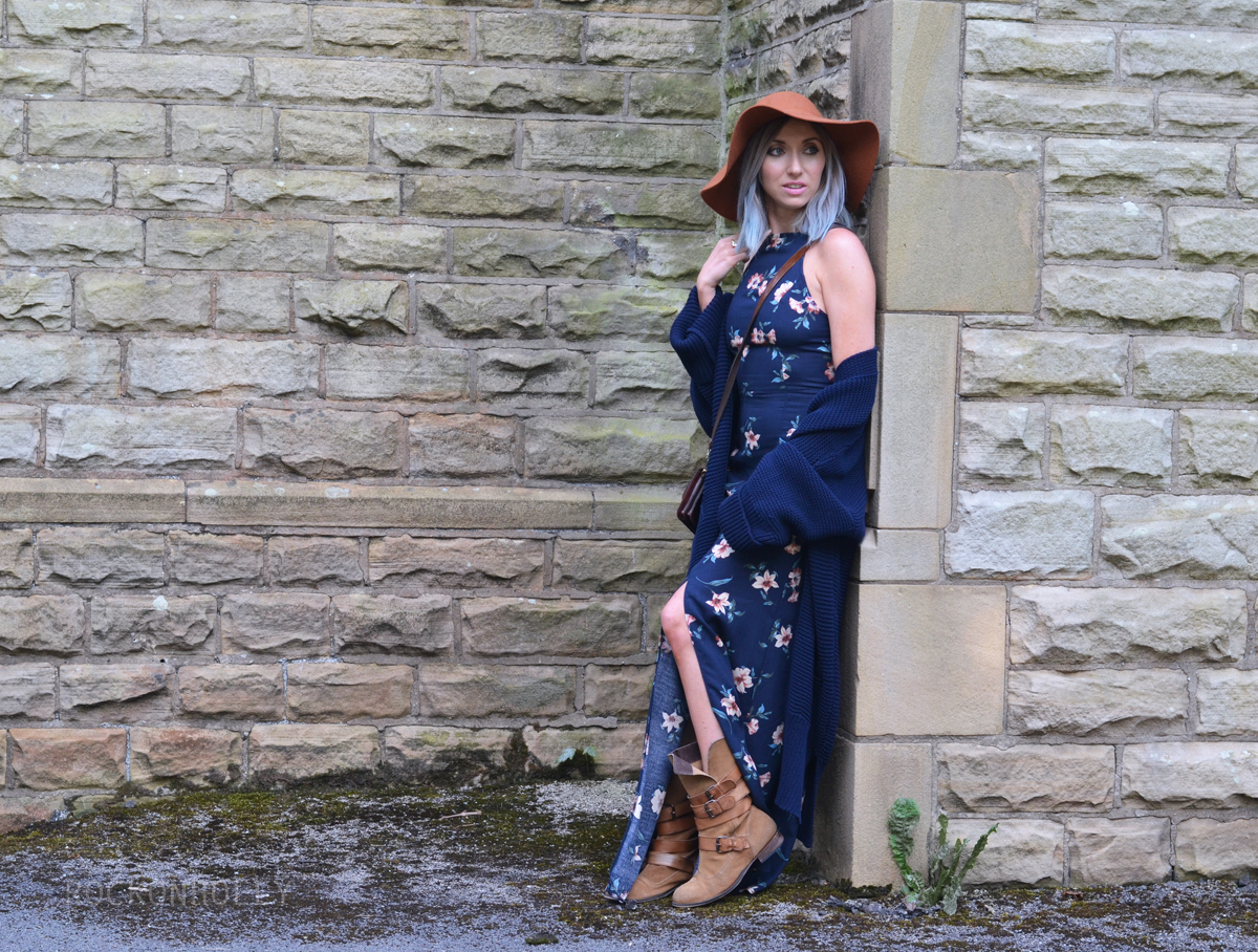 New Look Floral Maxi Dress on Rock On Holly Blog